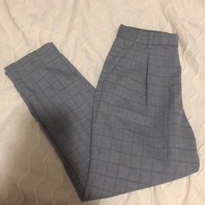 Uniqlo Gray Tapered Plaid Trousers
